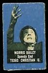 Morris Bailey 1950 Topps Felt Backs football card
