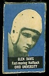 Glen Davis 1950 Topps Felt Backs football card