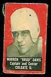 Warren Davis 1950 Topps Felt Backs football card