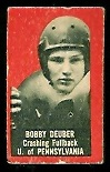 Bob Deuber 1950 Topps Felt Backs football card