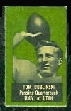 Tom Dublinski 1950 Topps Felt Backs football card