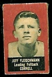 Jeff Fleischman 1950 Topps Felt Backs football card