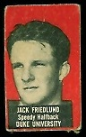 Jack Friedland 1950 Topps Felt Backs football card