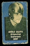 Arnold Galiffa 1950 Topps Felt Backs football card