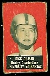 Dick Gilman 1950 Topps Felt Backs football card