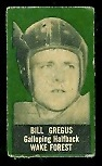 Bill Gregus 1950 Topps Felt Backs football card