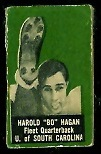 Harold Hagan 1950 Topps Felt Backs football card