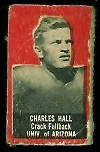 Charles Hall 1950 Topps Felt Backs football card