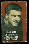 Leon Hart (brown) 1950 Topps Felt Backs football card