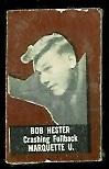 Bob Hester (brown) 1950 Topps Felt Backs football card
