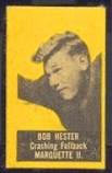 Bob Hester (yellow) 1950 Topps Felt Backs football card