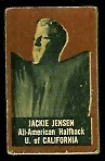 Jackie Jensen (brown) 1950 Topps Felt Backs football card