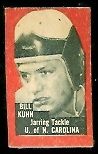Bill Kuhn 1950 Topps Felt Backs football card