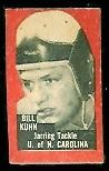 Bill Kuhn 1950 Topps Felt Backs football card
