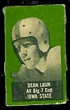Dean Laun 1950 Topps Felt Backs football card