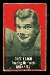 Chet Leach 1950 Topps Felt Backs football card