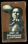 Bobby Lee (brown) 1950 Topps Felt Backs football card