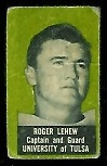 Rogers Lehew 1950 Topps Felt Backs football card