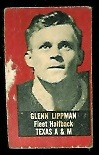 Glenn Lippman 1950 Topps Felt Backs football card