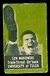 Len Makowski 1950 Topps Felt Backs football card