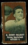 Al Malekoff (brown) 1950 Topps Felt Backs football card