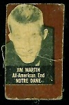 Jim Martin (brown) 1950 Topps Felt Backs football card