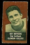 Ray Mathews (brown) 1950 Topps Felt Backs football card