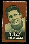 Ray Mathews (brown) 1950 Topps Felt Backs football card