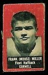 Frank Miller 1950 Topps Felt Backs football card