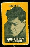 John Miller (yellow) 1950 Topps Felt Backs football card