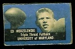 Ed Modzelewski 1950 Topps Felt Backs football card