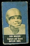 Don Mouser 1950 Topps Felt Backs football card