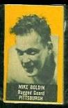 Mike Boldin (yellow) 1950 Topps Felt Backs football card