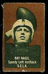 Ray Nagel (brown) 1950 Topps Felt Backs football card