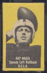 Ray Nagel (yellow) 1950 Topps Felt Backs football card