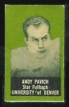 Andy Pavich 1950 Topps Felt Backs football card