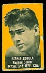 Bernie Botula (yellow) 1950 Topps Felt Backs football card