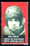 Bob Bowlby 1950 Topps Felt Backs football card
