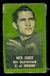 Nick Sebek 1950 Topps Felt Backs football card
