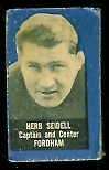 Herb Seidell 1950 Topps Felt Backs football card