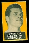 Charles Shaw (yellow) 1950 Topps Felt Backs football card