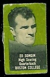 Ed Songin 1950 Topps Felt Backs football card