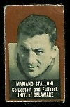 Mariano Stalloni (brown) 1950 Topps Felt Backs football card
