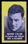 Mariano Stalloni (yellow) 1950 Topps Felt Backs football card