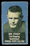 Don Stehley 1950 Topps Felt Backs football card