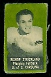 Bishop Strickland 1950 Topps Felt Backs football card