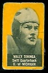 Wally Teninga (yellow) 1950 Topps Felt Backs football card