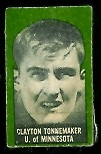 Clayton Tonnemaker 1950 Topps Felt Backs football card