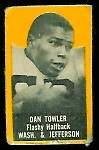 Dan Towler (yellow) 1950 Topps Felt Backs football card