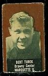 Bert Turek (brown) 1950 Topps Felt Backs football card